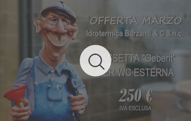 "Cassetta ""Geberit"" per WC Esterna"