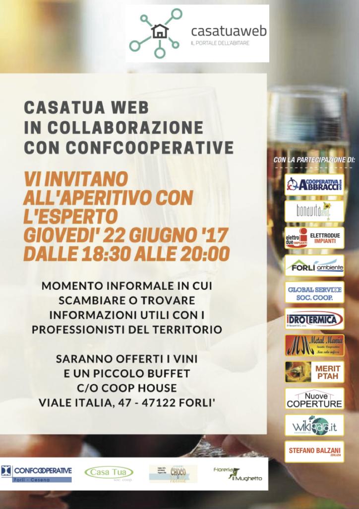 CasatuaWeb e Confcooperative 22/06 aperitivo-22giugno-724x1024