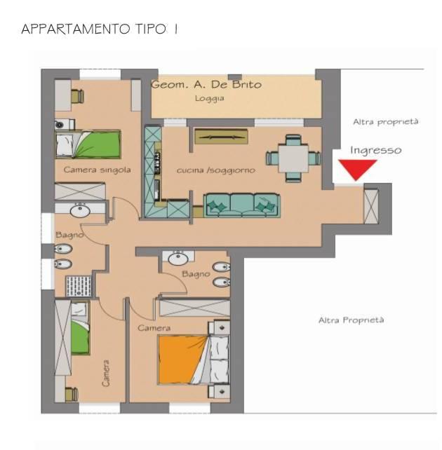 6 appartamenti all 39 asta con 3 camere da letto casatuaweb for Piani casa semplice 4 camere da letto