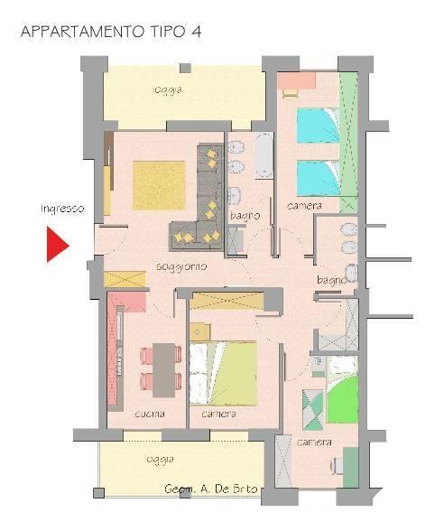 6 appartamenti all 39 asta con 3 camere da letto casatuaweb for Appartamento con 3 camere da letto