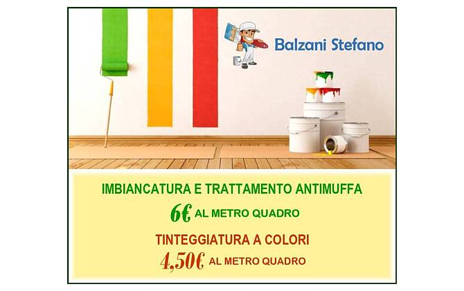 Imbiancatura – trattamento antimuffa – tinteggiatura a colori