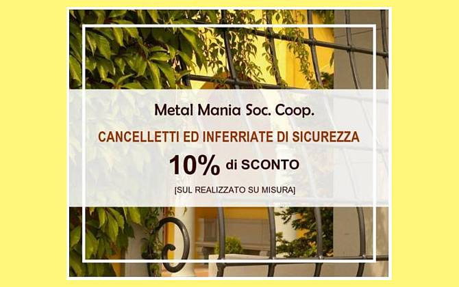 Cancelletti ed inferriate di sicurezza