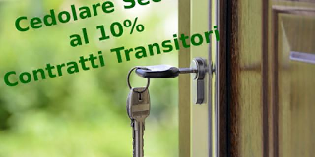 Cedolare secca al 10% nei contratti transitori